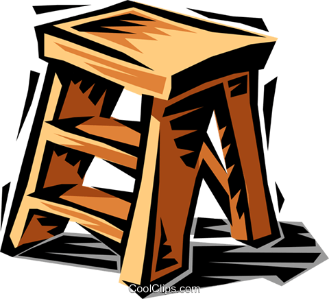 Step stool Royalty Free Vector Clip Art illustration hous1192