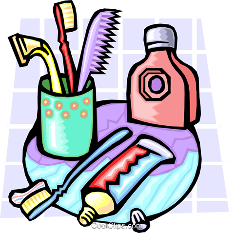 toiletries Royalty Free Vector Clip Art illustration hous1199