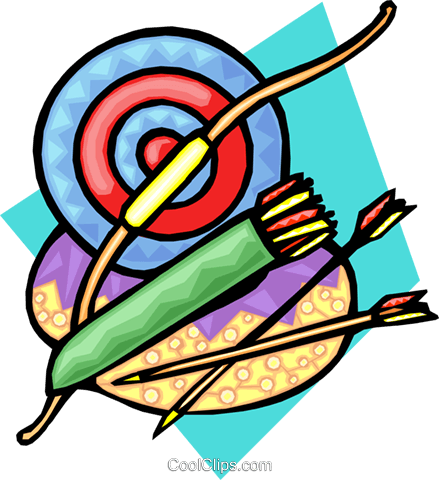 archery Royalty Free Vector Clip Art illustration hous1200