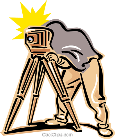 old-fashioned photographer Royalty Free Vector Clip Art illustration peop2399