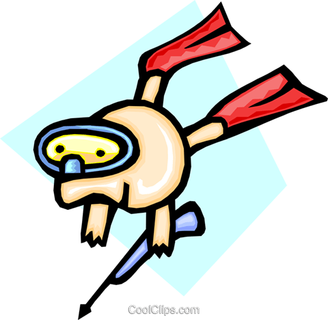 snorkeling - cartoon Royalty Free Vector Clip Art illustration peop2450