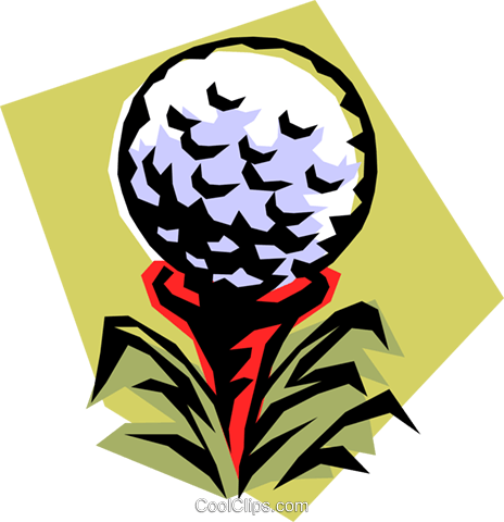 golf ball on tee Royalty Free Vector Clip Art illustration spor0265