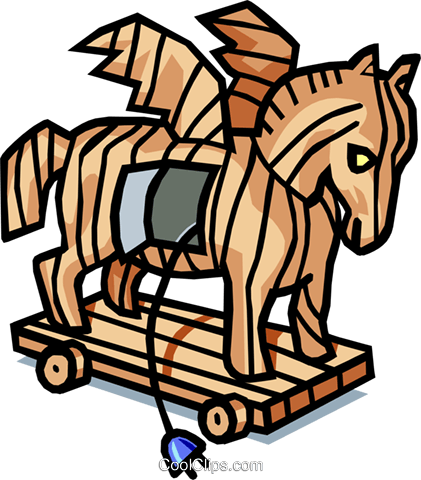 Trojan horse Royalty Free Vector Clip Art illustration anim1609