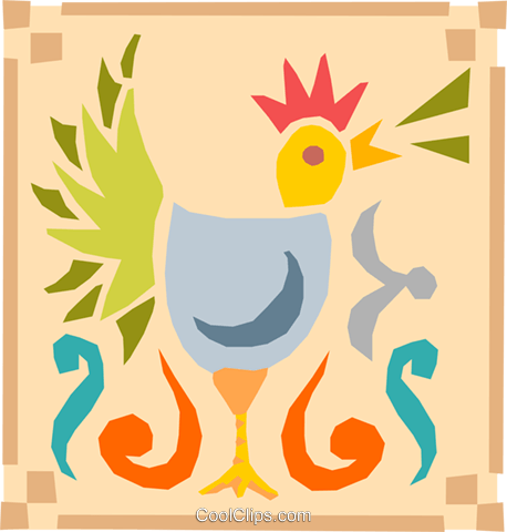 rooster Royalty Free Vector Clip Art illustration anim1610