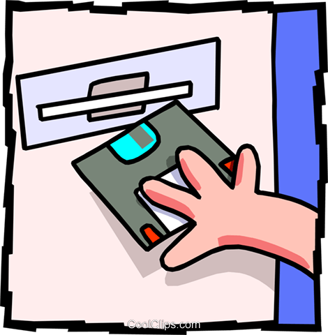 floppy drive Royalty Free Vector Clip Art illustration busi1435