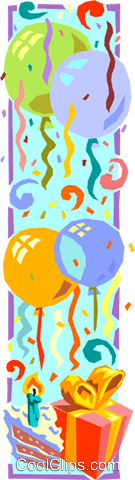 birthday Royalty Free Vector Clip Art illustration divi0001
