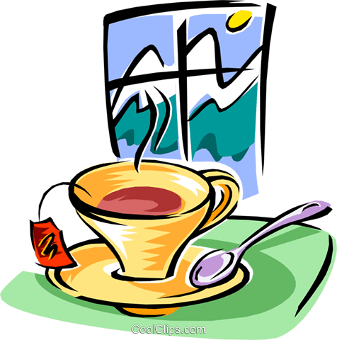 cup of tea Royalty Free Vector Clip Art illustration food0860