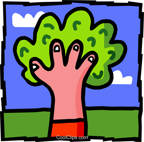 tree - hand Royalty Free Vector Clip Art illustration natu0756