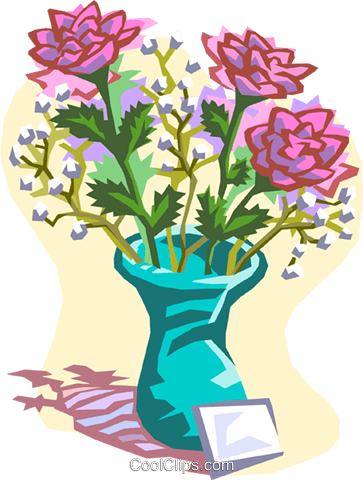 flowers Royalty Free Vector Clip Art illustration natu0762