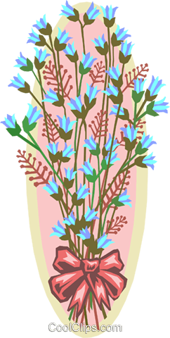 Wedding flowers Royalty Free Vector Clip Art illustration natu0763
