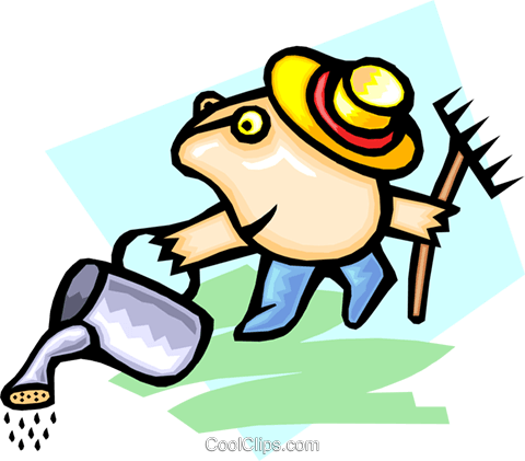 gardener - cartoon Royalty Free Vector Clip Art illustration peop2456