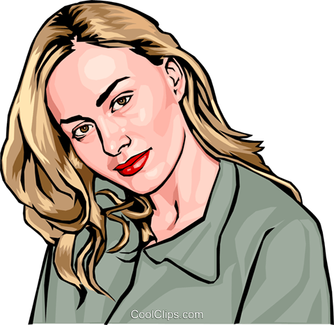 young woman - bust Royalty Free Vector Clip Art illustration peop2465