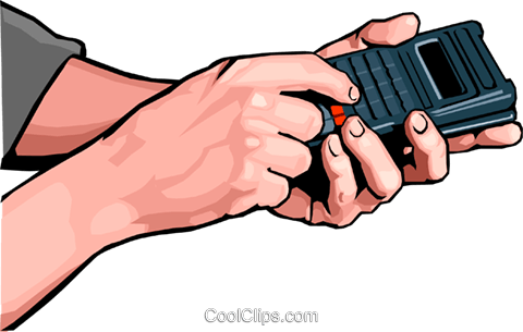 hands with remote Royalty Free Vector Clip Art illustration peop2481