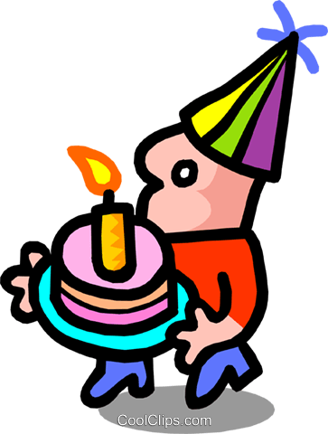 birthday boy - cartoon Royalty Free Vector Clip Art illustration peop2487
