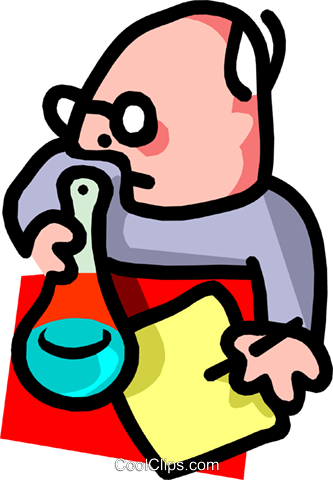 chemist - cartoon Royalty Free Vector Clip Art illustration peop2520