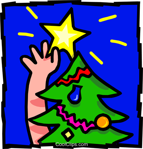 Christmas star Royalty Free Vector Clip Art illustration spec0006
