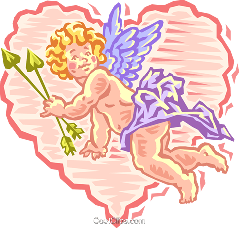 cupid in valentine Royalty Free Vector Clip Art illustration spec0019