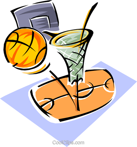 basketball Royalty Free Vector Clip Art illustration spor0280