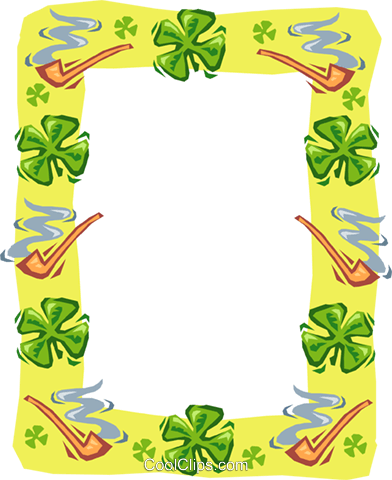 border for St. Patrick's Day Royalty Free Vector Clip Art illustration text1536