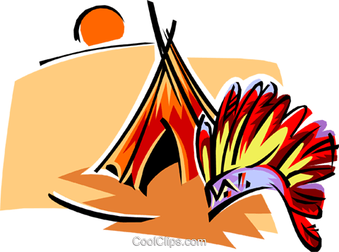 Native American symbols two Royalty Free Vector Clip Art illustration trav0006
