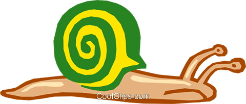 snail Royalty Free Vector Clip Art illustration anim1613