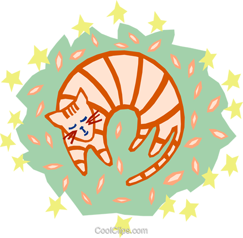 cat Royalty Free Vector Clip Art illustration anim1617