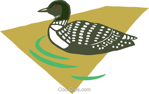 loon Royalty Free Vector Clip Art illustration anim1619