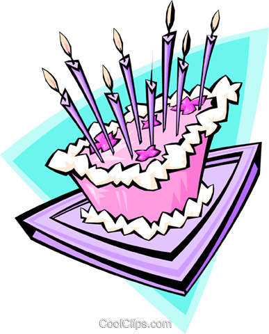 Birthday cake - abstract Royalty Free Vector Clip Art illustration food0873