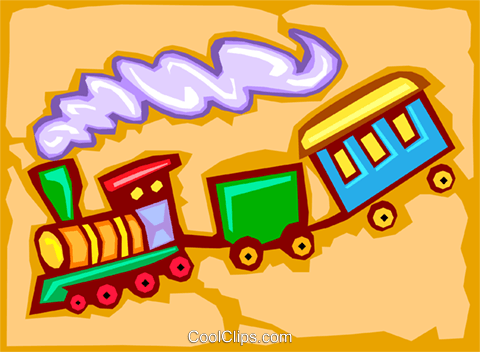 train - abstract Royalty Free Vector Clip Art illustration hous1207