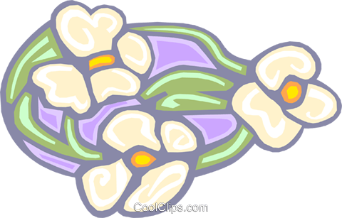 water lilies stained glass Royalty Free Vector Clip Art illustration natu0768