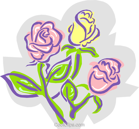 Roses - abstract Royalty Free Vector Clip Art illustration natu0773