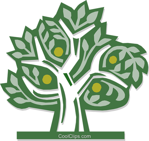 lemon tree Royalty Free Vector Clip Art illustration natu0778