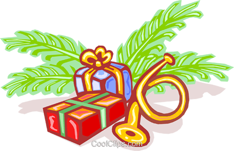 Christmas gifts Royalty Free Vector Clip Art illustration spec0020