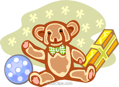toy gifts Royalty Free Vector Clip Art illustration spec0021