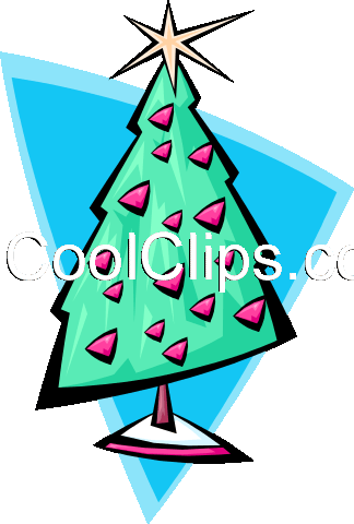 Christmas tree 2 - abstract Royalty Free Vector Clip Art illustration spec0034