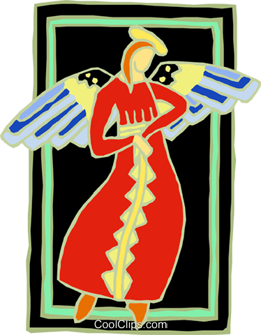 angel lady Royalty Free Vector Clip Art illustration spec0055