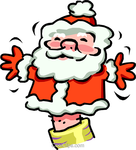 Santa puppet Royalty Free Vector Clip Art illustration spec0063