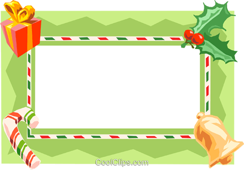 Christmas gift border Royalty Free Vector Clip Art illustration text1568