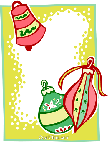 Christmas ornament border two Royalty Free Vector Clip Art illustration text1579