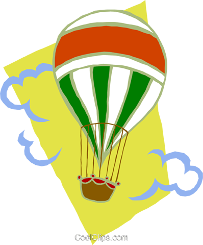 hot air balloon Royalty Free Vector Clip Art illustration tran0857