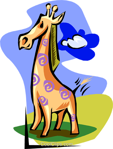 snazzy giraffe Royalty Free Vector Clip Art illustration anim1629