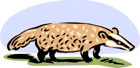 anteater Royalty Free Vector Clip Art illustration anim1632