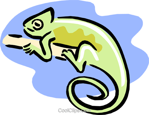 chameleon Royalty Free Vector Clip Art illustration anim1635