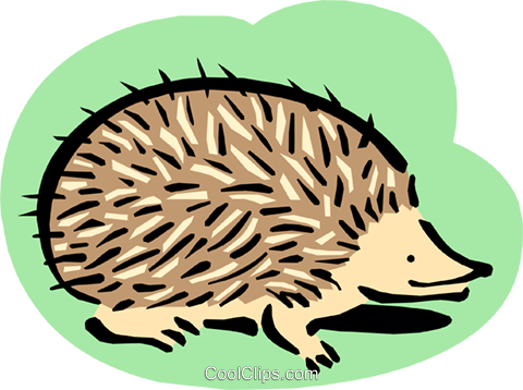 hedgehog Royalty Free Vector Clip Art illustration anim1638