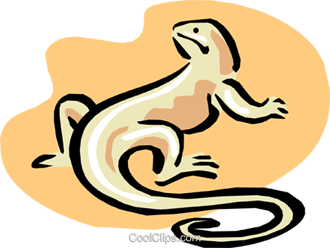 lizard Royalty Free Vector Clip Art illustration anim1643