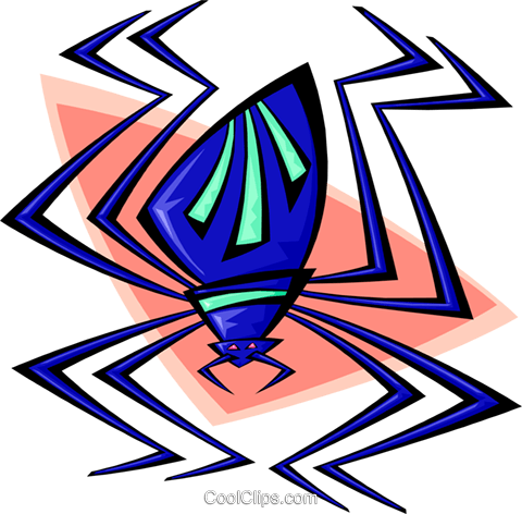 snazzy spider Royalty Free Vector Clip Art illustration anim1650