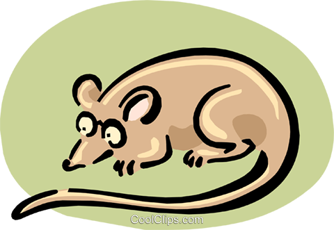 mouse in glasses Royalty Free Vector Clip Art illustration anim1661