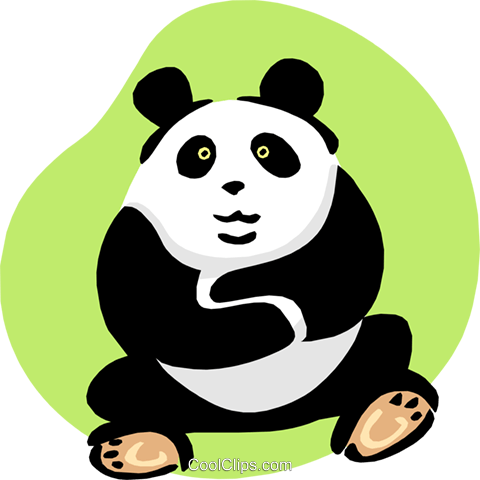 panda Royalty Free Vector Clip Art illustration anim1663