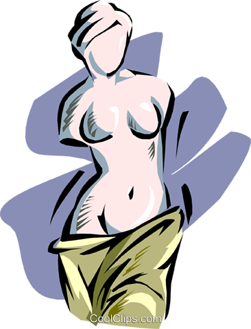 sculpted female bust Royalty Free Vector Clip Art illustration arch0447