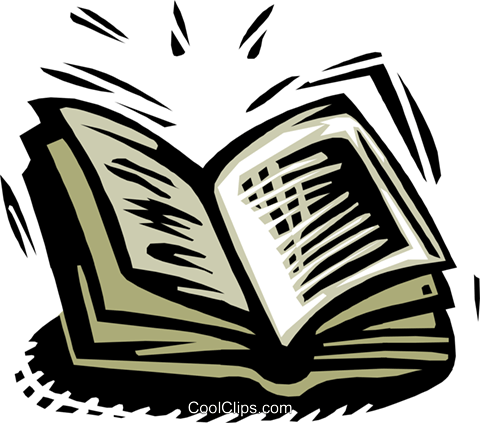 open book Royalty Free Vector Clip Art illustration busi1451
